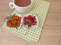 Fruit tea with barberry and sea buckthorn