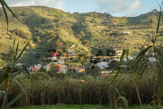 Häuser am Hang in Gran Canaria