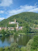 View to Gemuenden am Main in Spessart,Bavaria,Germany
