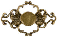 Filigree, decorative element for manual work, isolated on white, with clipping path