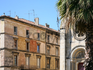 old urban house in Nimes city