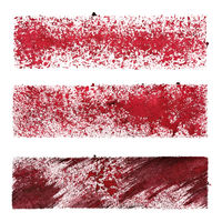 Set of red stencil stripes