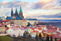 Prague panorama with Prague Castle