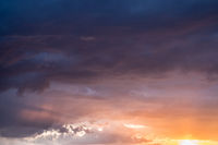 dramatic sunset sky ,colorful clouds background
