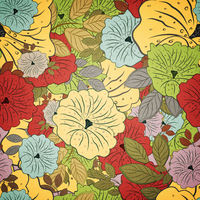 Floral Seamless Grunge Colored Pattern
