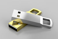 Stylish silver and gold usb sticks