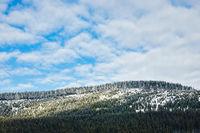 Winter im Riesengebirge in der Tschechische Republik