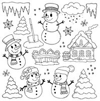 Winter theme drawings 2