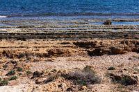 Rocky beach of Torrevieja. Costa Blanca. Spain