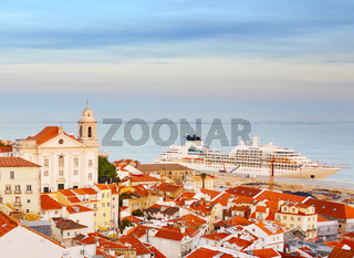 Cruise ship in Lisbon, Portugal