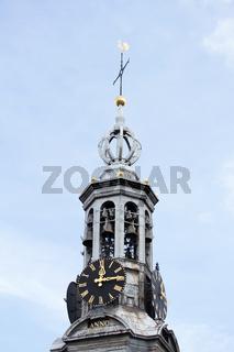 Kirchturm in Amsterdam. Niederlande
