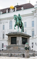 Equestrian statue and monument in Vienna