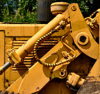 Detail of tractor hydraulic