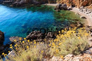 Sea bay in Zingaro Park, Sicily, Italy