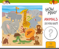 how many animals game for kids