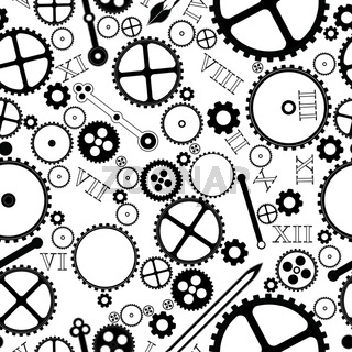Clock pieces pattern