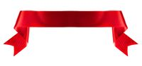 Banner ribbon on white