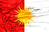 Yezidi Flag. 3D Illustration. Front View.