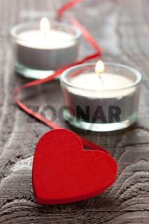 Herz mit Kerzen
