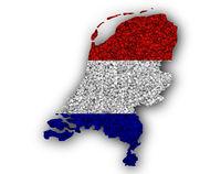 Karte und Fahne der Niederlande auf Mohn - Map and flag of the Netherlands on poppy seeds
