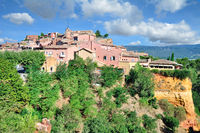 Village of Roussillon in Provence,France