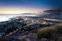 Cityscape of Townsville at dusk, Australia