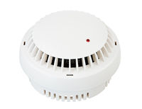 Isolated white smoke detector