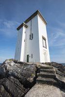 Lighthouse at Port Ellen on the Land Carraig Fhada, Isle of Islay