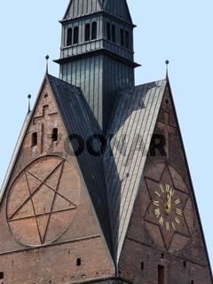Marktkirche mit Pentagram und Judenstern