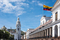 Carondelet Palace (Spanish: Palacio de Carondelet) is the seat of government of the Republic of Ecuador, located in Quito in the Independence Square (Plaza Grande)