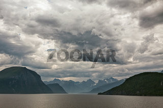 Along the Romsdalsfjorden near Andalsnes, Norway