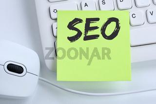 SEO Search Engine Optimization Suchmaschinenoptimierung Computer Internet Business Konzept Maus