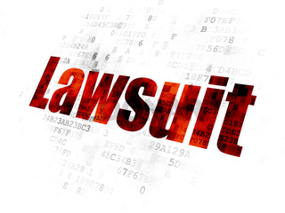 Law concept: Lawsuit on Digital background