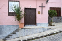 typischer Hauseingang,  La Orotava, Teneriffa, Kanaren, Kanarisc