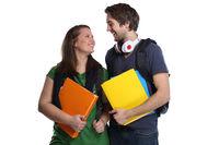 Studenten Studium Liebe lieben Pärchen lachen Jugendliche Freisteller