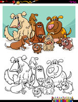 cartoon dogs for coloring