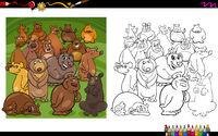 bear characters coloring book