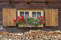 Alpine hut detail