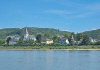 Village of Unkel at Rhine River,Rhineland-Palatinate,Germany