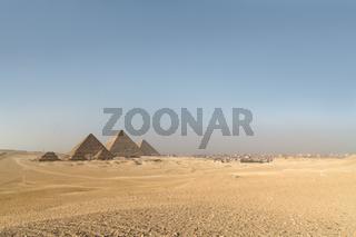 Giza pyramids in Cairo, Egypt.
