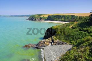 Lermot Strand in der Bretagne - Lermot beach in Brittany, France