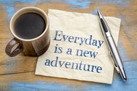 Everyday is a new adventure - napkin concept
