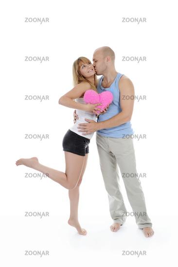 man kisses a girl