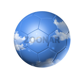 Sky on a soccer football ball