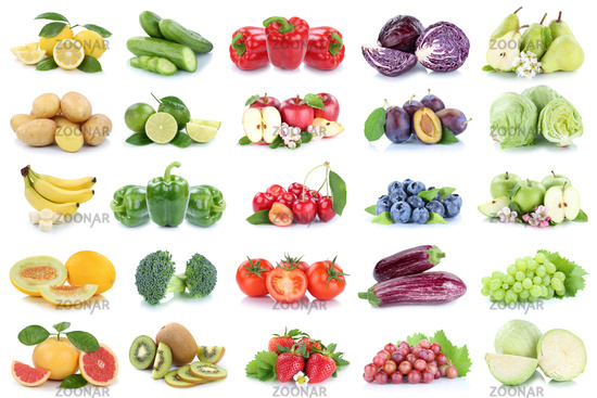 Photo Obst und Gemüse Früchte Apfel Kraut Zitrone Tomaten Farben ...