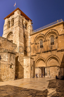 Church of the Holy Sepulchre at dusk, Jerusalem