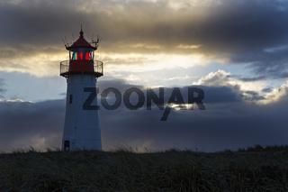 Leuchtturm List-West, Ellenbogen, Sylt, Nordfriesland, Schleswig-Holstein, Deutschland, Europa