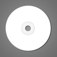 White CD - DVD mockup template isolated on Dark Grey