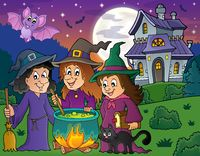 Three witches theme image 4 - picture illustration.