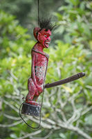 Bali old wooden figure with big penis
